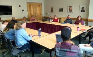 Tamara met with student leaders and Center administration to learn more about their mission.